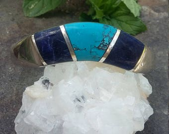Sodalite & Torquoise Bangle