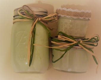 Eucalyptus Scented Soy Candle in Mason Jars- Handmade- Natural Ingredients- Perfect Gift Idea- Home Decor