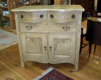 Country Chic Tall Chest Dresser Bureau 3 Drawer / Two Door - #00860