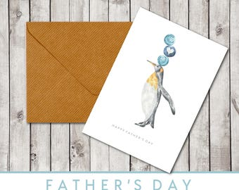Father's Day Card - Penguin