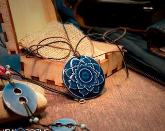 Lotus - Handmade Ceramic Necklace