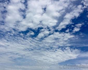 Cloudscape photograph. 12x18 cloud photograph. Cloud photography. Nature photography.