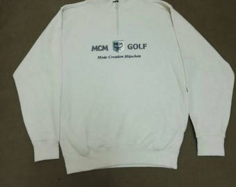 MCM GOLF sweatshirt Vintage big logo
