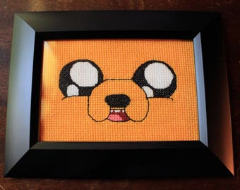 Adventure Time Jake the Dog cross stitch
