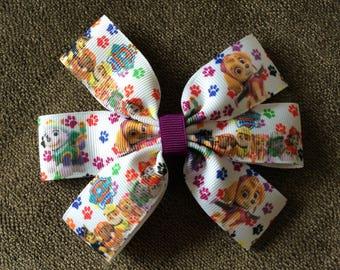 Handmade Paw Patrol accessory, clip, hair bow, rosette.