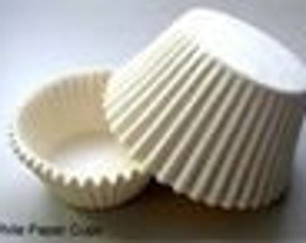 1000 ct White Greaseproof Cupcake Liners size Mini 1-1/2x1-1/8