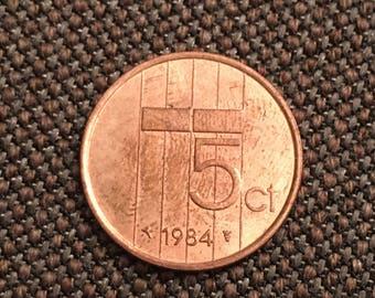 1984 Nederland 5 cents