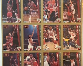 Fleer '92-93 Chicago Bulls cards