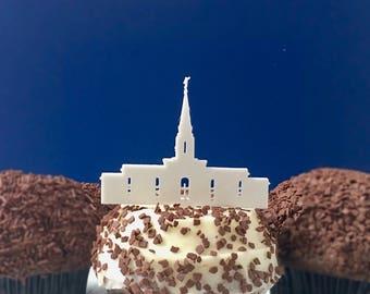 ONE DOZEN Orlando Temple Cupcake Toppers