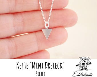 Necklace ~ mini triangle ~ engraving on request ~ 925 Silver