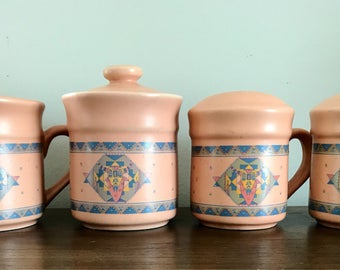 Southwestern Salt & Pepper, Cream and Suger set | Ceramic Set |