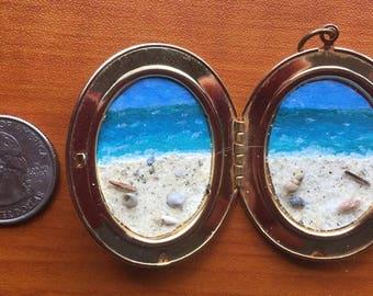 miniature seascape locket