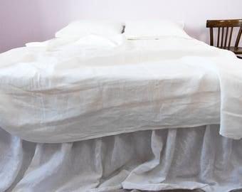 linen bed skirt ruffled bed skirt dust ruffle king dust ruffle custom bed - Dust Ruffles