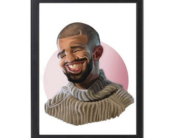 Digital Drawing Drake Poster