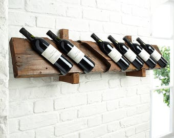 Rustic Individually Carved Wine Rack, Wine Rack, Rustic Wine Rack, Wooden Wine Rack, Wall Mounted Wine Rack,