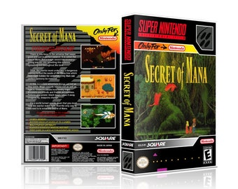 Secret of Mana SNES UGC Video Came Collector's Case with Professional Grade Cover Art