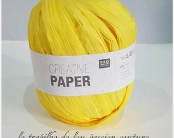 Yellow Paper 100% fiber paper Rico Creative yarn
