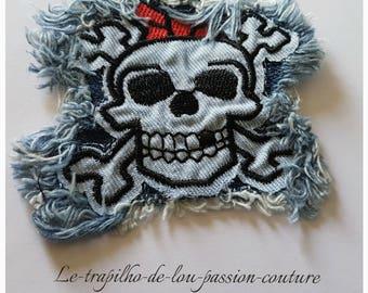 1 badge/Patch/Applique denim sewing or craft pattern skull
