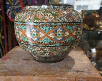 Extra large mosaic vase Gerbino Vallauris