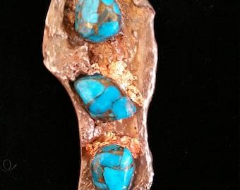 Copper / Turquoise / Pendant / Splash Copper