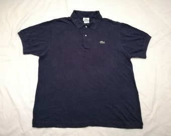 lacoste polos shirt blue navy size 5