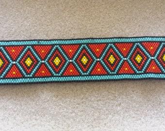 Ethnic peyote Cuff Bracelet