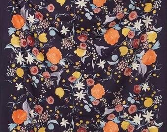 Nani Iro Japanese Fabric  Kokka Fuccra Rakuen Cotton Sateen - malorca- 50cm