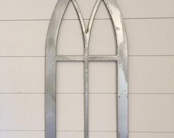 Cathedral Metal Window Frame, farmhouse decor, accent decor