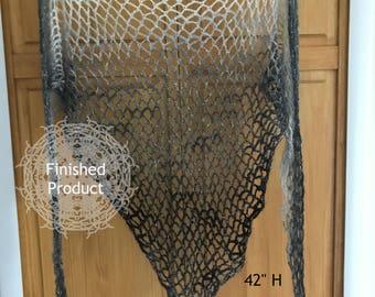 Gradiant Fishnet Shawl •finished product•