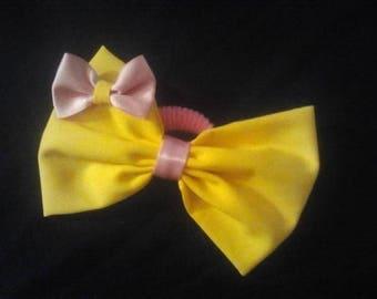 hair bow girls yellow hair clip hair band hand made