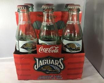 Vintage Jacksonville Jaguars 1995 Coca-Cola Six-Pack