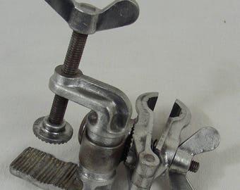old vise clamp table sculpture modeling crafts