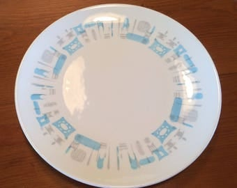 Mid Century Atomic Blue Heaven by Royal China Dinner Plate
