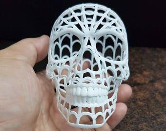 Web Skull Wireframe.