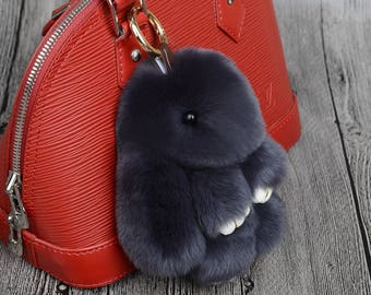 Fur Bunny key ring and bag accessary