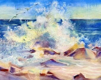 Landscape Watercolour Painting Q261