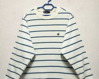 Vintage Hang Ten Surf Stripe Stripes Sweater Sweatshirt