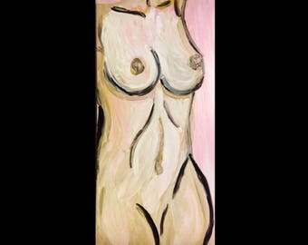 Acrylic female form painting