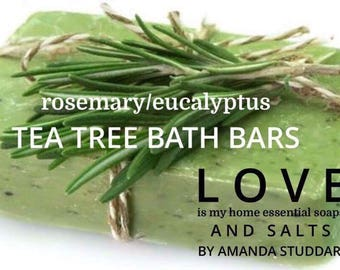 Rosemary /Eucalyptus Tea Tree Bath Bar