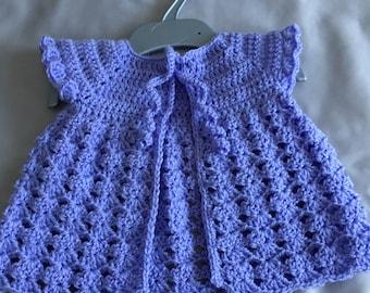 Premmie cardigan, tiny baby girl cardigan