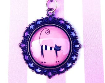 Cat Cartoon Cameo Necklace- Choice of Style