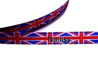 1 meter of Ribbon English flag