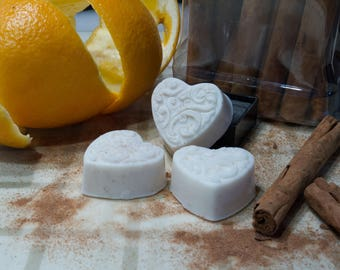 Organic Heart Shaped Guest Soaps with Goats Milk and All Natural Ingredients (6 per bag)