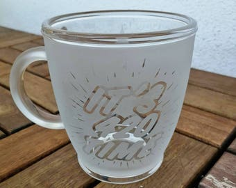 420 TIME MUG-Cannabis, ganja, etched glass, stoner gift