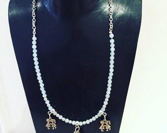 """lovely children"" charm necklace"