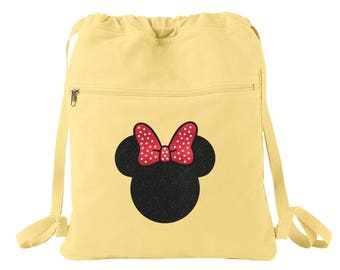 Minnie Mouse Bow - Minnie Mouse Bag - Disney Tote - Minnie Mouse - Disney Backpack - Minnie Mouse Backpack