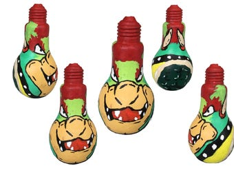 Mario Bowser Painted Bottle