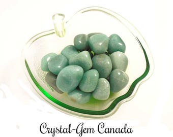 4 (four) gorgeous Aventurine, Pocket Stones, - Gemstone for prosperity pace, and confidence. Gemstone infused w Reiki