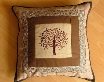 Tree patchwork pillows