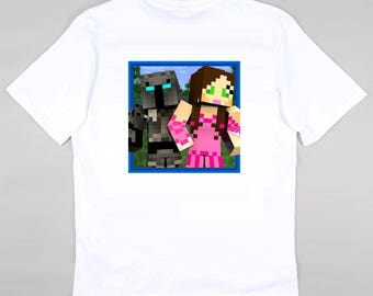 PopularMMO Pat and Jen Childrens Kids Tshirt YouTube Fan  - Free Personalisation